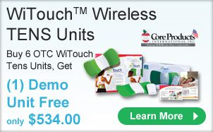 Buy 6 OTC WiTouch Tens Units Get 1 Demo Unit Free