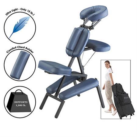 Master Massage Equipment Portable Massage Chair Royal Blue