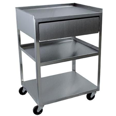 Buy Stainless Steel Rolling Cart 3 Shelf With Drawer