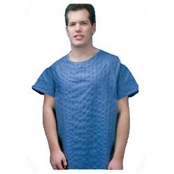 Patient Gown, 2X-Large Blue Broadcloth, 12/Case