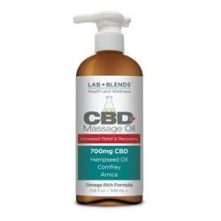 Lab+Blends™ 700 mg CBD Massage Oil 11.8 oz By BIOTONE® - Pain Relief for Sore Joints & Aching Muscles