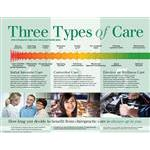 "Three Types Of Care Poster (Laminated)24""X 18"""