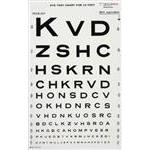 Snellen Eye Test Chart for 10'