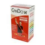 CanDo® Low Powder Pre-Cut Exercise Band 5' Singles - 30 Piece Dispenser