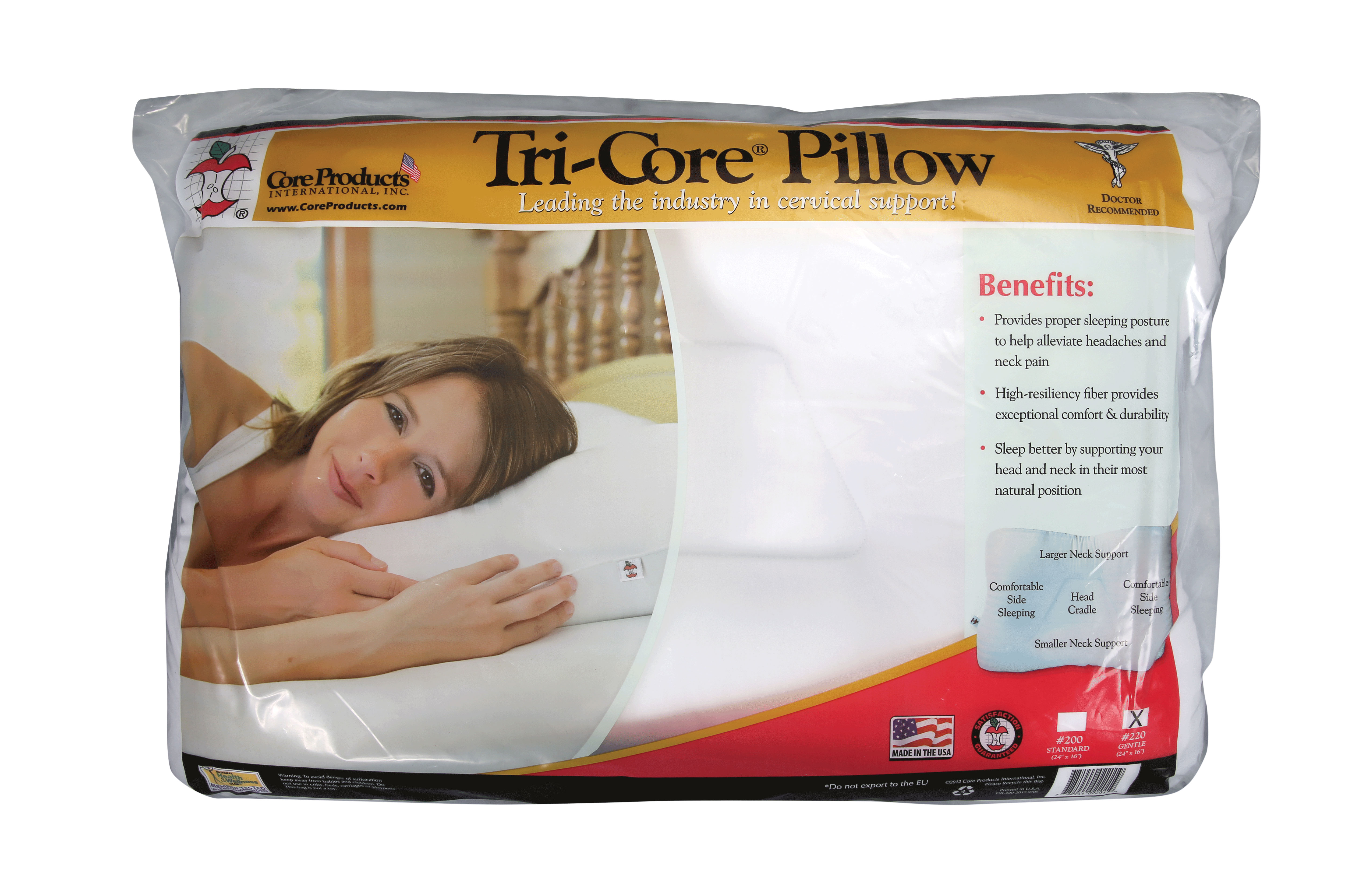 Core Products Tri Core Pillow