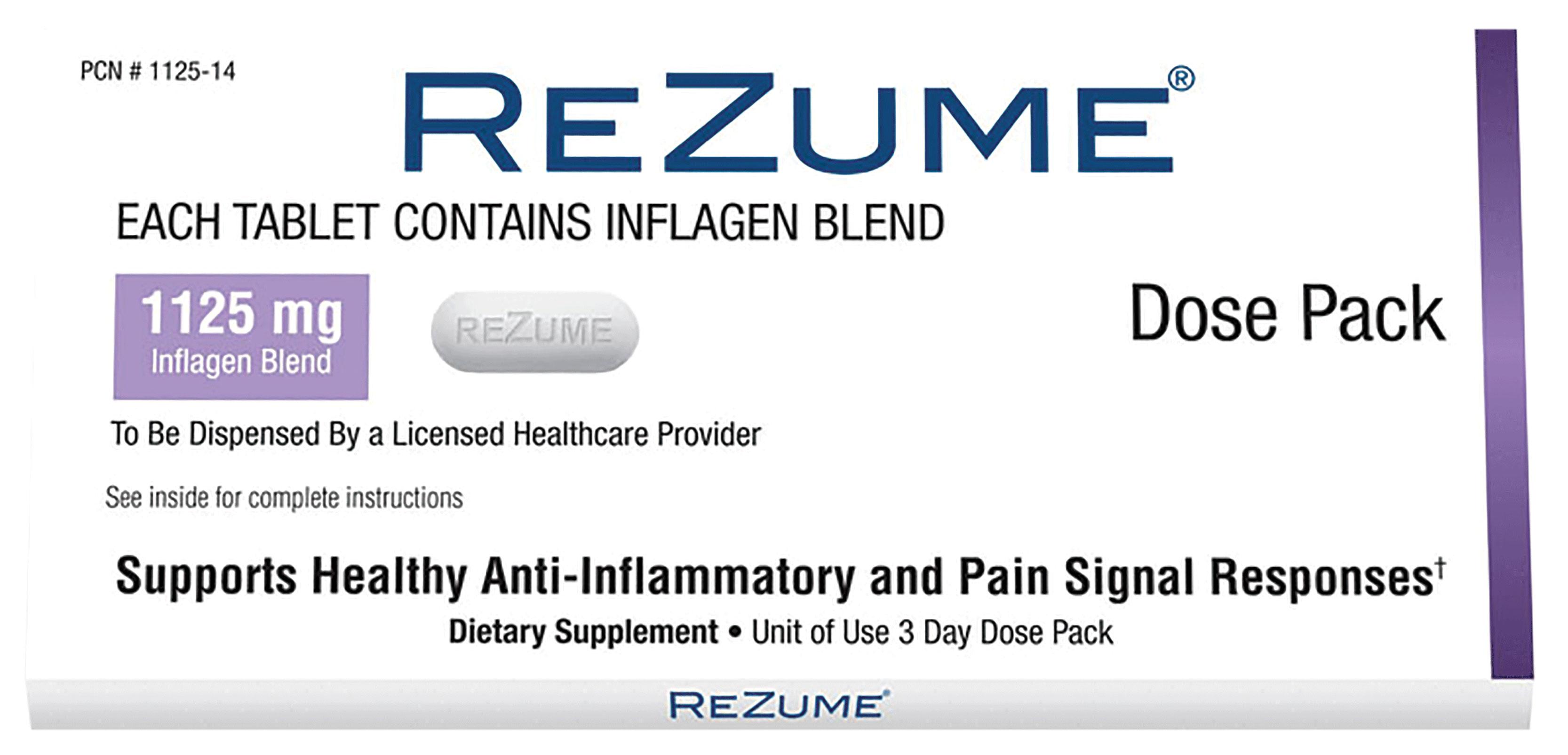Buy Rezume Pain Reliever Anti Inflammatory Dose Pack