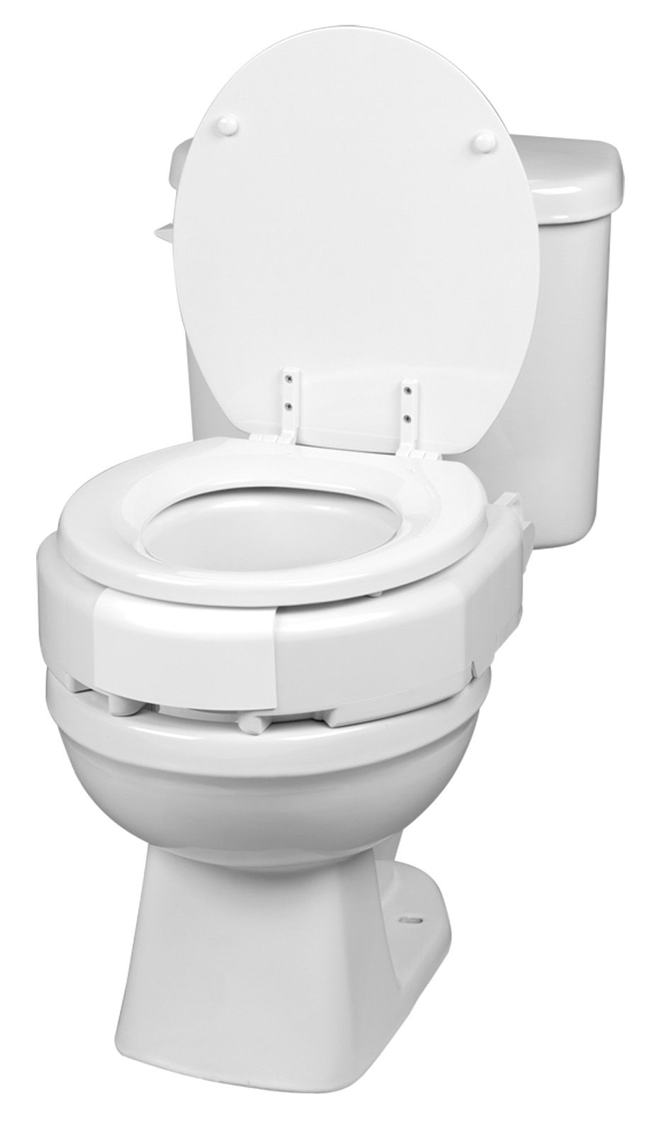 Ableware Secure Bolt Hinged Elevated Toilet Seat Elongated