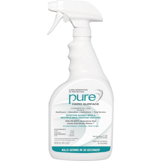 PURE® Hard Surface Disinfectant Sanitizer– 32 oz, Case/12, 2 Sprayers