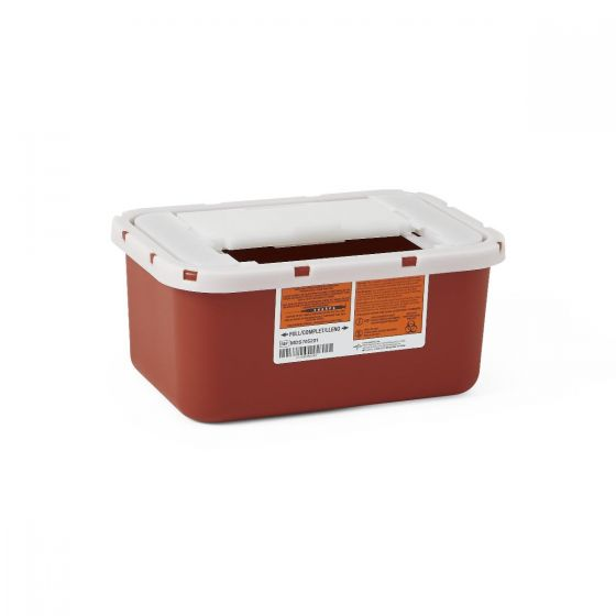 Medline Multipurpose Sharps Container 1Gal Red Ea