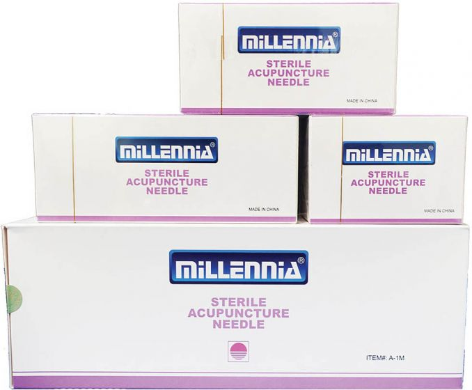 Millenia Long Acupuncture Needles 100/Box