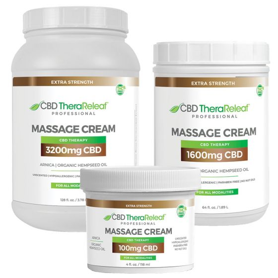 CBD TheraReleaf™ Professional Massage Cream Extra Strength