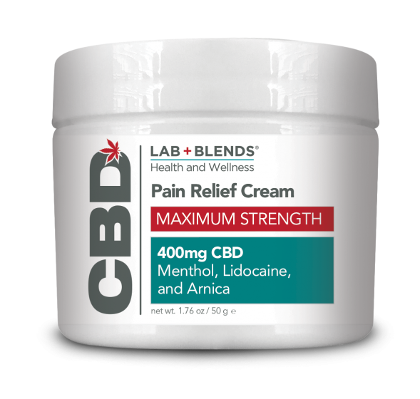 Lab+Blends® 400mg CBD Pain Relief Max Strength Cream - 1.76 oz by BIOTONE®