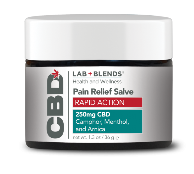 Lab+Blends® 250mg CBD Pain Salve Rapid Action Relief - 1.3 oz by BIOTONE®