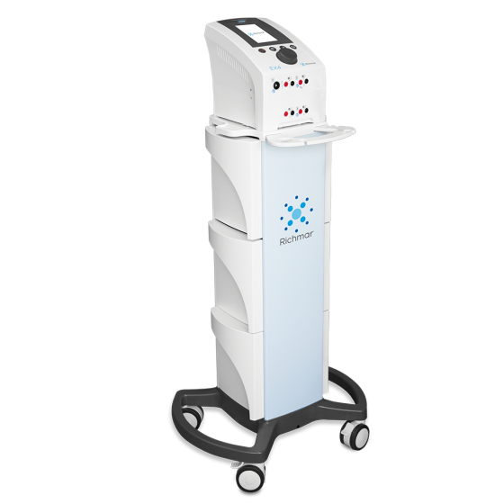 TheraTouch® EX4 With Therapy Cart - Four-Channel Stimulation Electrotherapy System