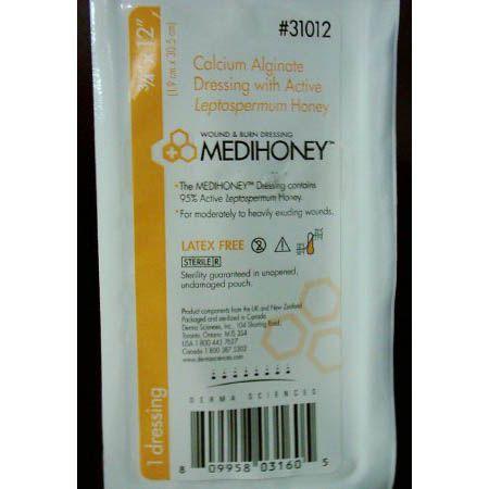 """MEDIHONEY® Calcium Alginate Dressing with Active Leptospermum Honey – 0.75"""" x 12"""" Rope 5/Box"""