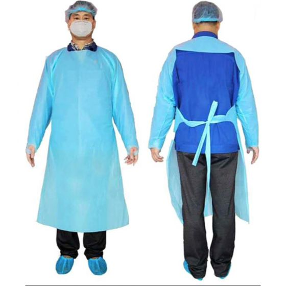 Disposable CPE Level 3 Isolation Gowns - 10 Pack
