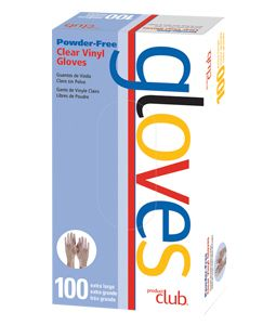 ProductClub® Powder-Free Clear Vinyl Disposable Gloves 100 Ct.