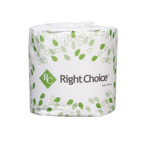 Right Choice™ 2-Ply Standard Bath Tissue Individually Wrapped, 400 Sheets/Roll