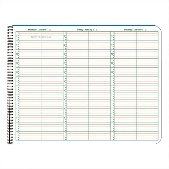 2022 Appointment Books 15 Minute Intervals, 2 Columns