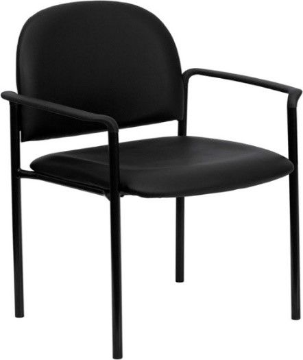 Flash Chair with Arms, Black