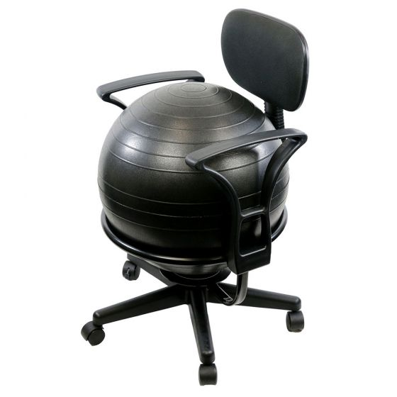 CanDo Ball Chair - Metal - Mobile - with Back - with Arms - with 22