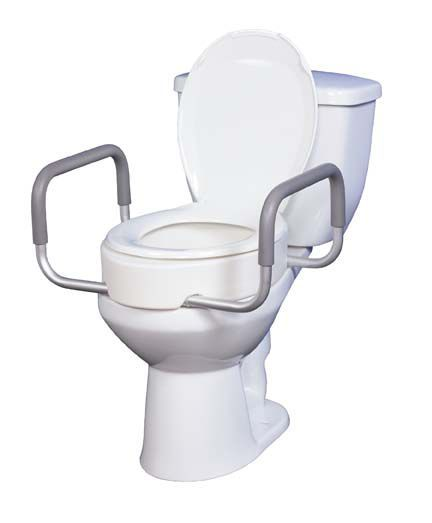 Toilet Seat Riser with Removable Arms/Safety Rails - 3.5