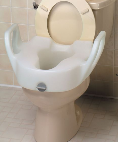 Bath Safe Lock-On Elevated Toilet Seat with Arms - 5