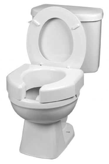 Basic Open Front Raised Elevated Toilet Seat - 3