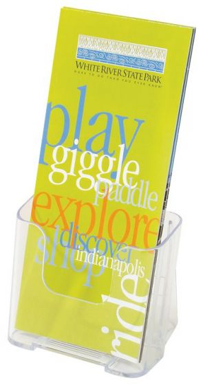 Clear Lucite Brochure Holder For 4