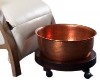 Living Earth Crafts® Pedi Roll-up Foothbath with Copper Bowl