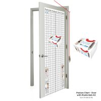 Kent Health Posture Analysis Grid Chart – Space Saver with Plumb Bob Kit