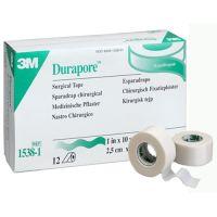 "3M® Durapore™ Silk-Like Cloth First Aid Surgical Tape, 1"" x 10 yd"