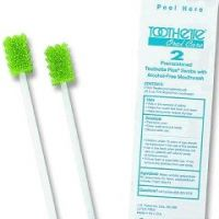 Toothette Plus Oral Swabs with Mouth Refresh Solution.
