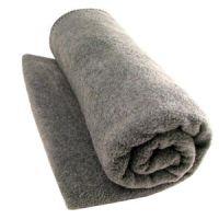 "Wool Woven Blanket Gray 66"" X 84"""
