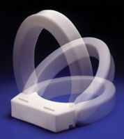 "Hinged Elevated Toilet Seat-3""-Elongated Bowl"