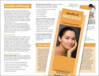 Benefits Of Massage Brochure 50 Pack